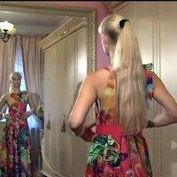 Платье в пол от ольги никишичевой видео